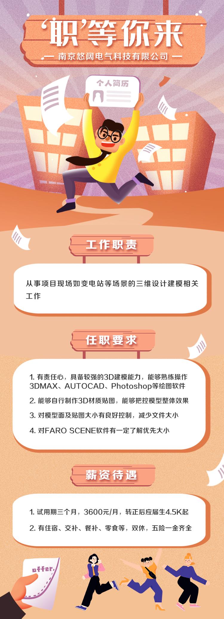 南京悠阔电气科技有限公司招聘信息