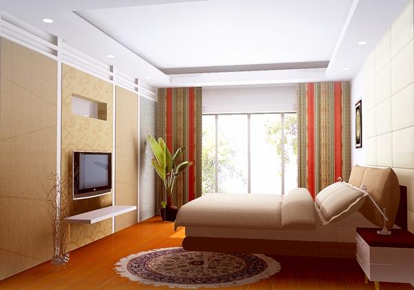 卧室3维效果制作